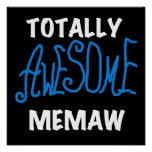 Camisetas totalmente impresionantes del azul de Me Poster