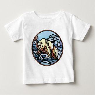Camisetas tribal del bebé del oso polar de la