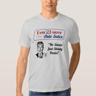 Camisetas usado divertido del vendedor de coches poleras