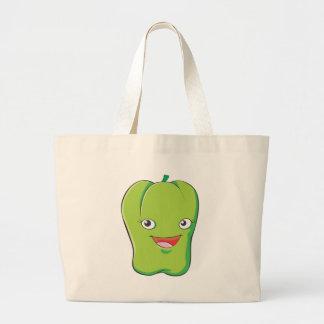 Camisetas verde de encargo lindo del paprika bolsa de mano