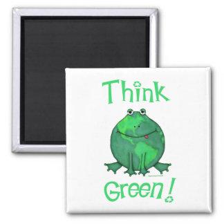 Camisetas verdes del ambiente del Día de la Tierra Imán De Nevera