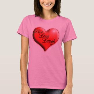 Camisetas vivo de la risa del amor