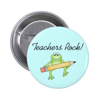 Camisetas y Gfits de la roca de los profesores de  Pin Redondo De 2 Pulgadas