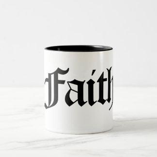 Camisetas y más de la fe taza dos tonos