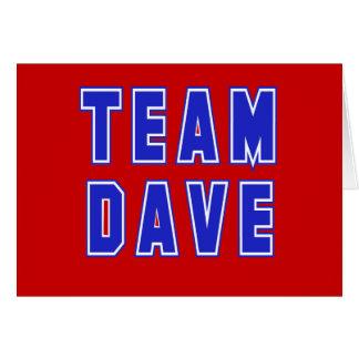 Camisetas y productos de Dave del equipo Tarjeta De Felicitación