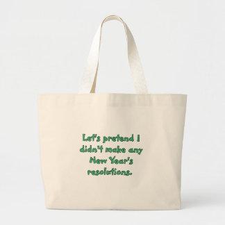 Camisetas y productos de las resoluciones del Año Bolsas De Mano