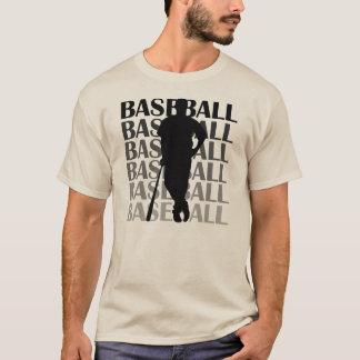 Camisetas y regalo negros del jugador de béisbol