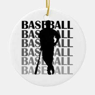 Camisetas y regalo negros del jugador de béisbol d ornamentos de reyes magos