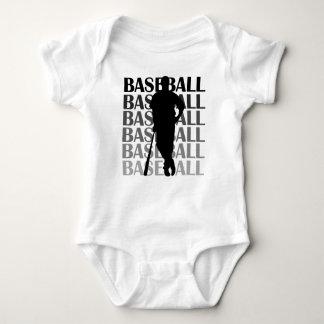 Camisetas y regalo negros del jugador de béisbol remera