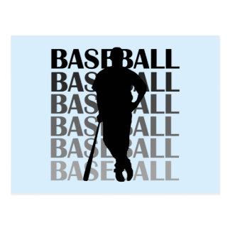 Camisetas y regalo negros del jugador de béisbol tarjetas postales