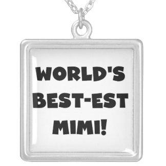 Camisetas y regalo negros del texto Mimi del Collar