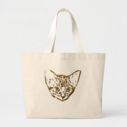 Camisetas y regalos 332 del gatito bolsa tela grande