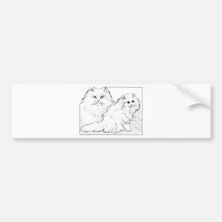 Camisetas y regalos 405 del gatito pegatina de parachoque