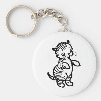 Camisetas y regalos 419 del gatito llavero redondo tipo pin