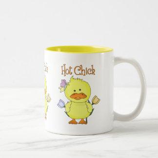 Camisetas y regalos adaptables adorables del pollu tazas