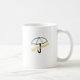 Camisetas y regalos (amarillos) de la llovizna de taza de café