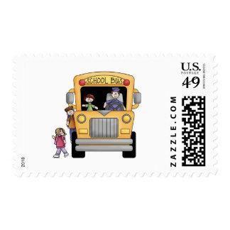 Camisetas y regalos amarillos del autobús escolar sellos