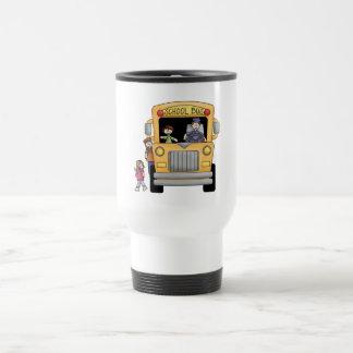 Camisetas y regalos amarillos del autobús escolar taza de viaje