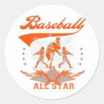 Camisetas y regalos anaranjados de All Star del Pegatinas Redondas