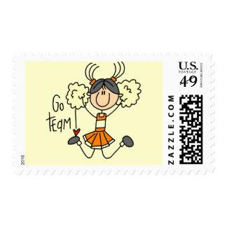 Camisetas y regalos anaranjados de la animadora sello