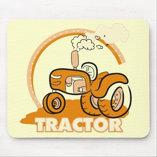 Camisetas y regalos anaranjados del tractor mouse pads