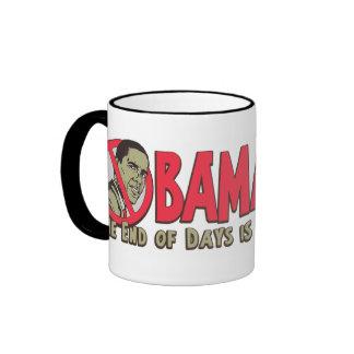 Camisetas y regalos antis de Obamageddon Obama Taza De Café