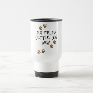 Camisetas y regalos australianos de la mamá del pe taza de viaje de acero inoxidable