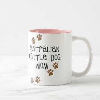 Camisetas y regalos australianos de la mamá del pe taza dos tonos