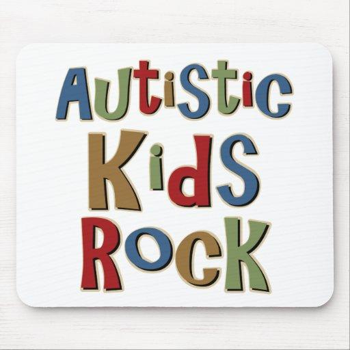 Camisetas y regalos autísticos de la roca de los n alfombrillas de ratón