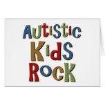 Camisetas y regalos autísticos de la roca de los n tarjetas