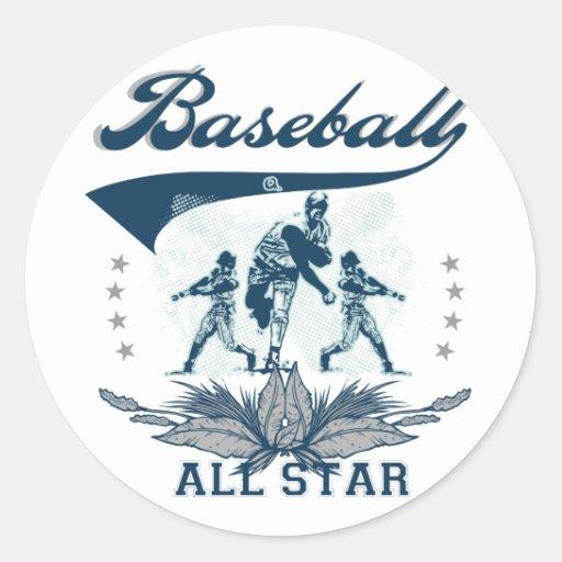 Camisetas y regalos azules de All Star del béisbol Etiquetas