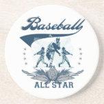 Camisetas y regalos azules de All Star del béisbol Posavaso Para Bebida