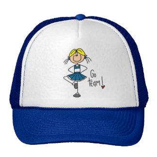 Camisetas y regalos azules de la animadora gorras