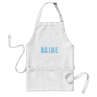 Camisetas y regalos azules de la novia delantales