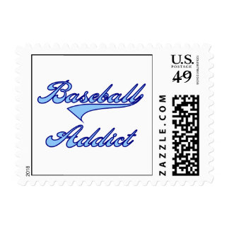 Camisetas y regalos azules del adicto al béisbol sellos