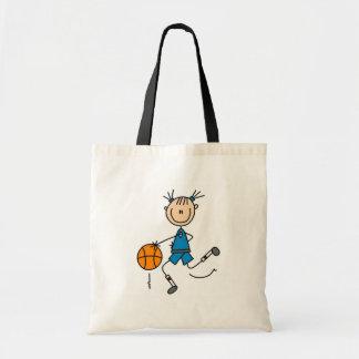 Camisetas y regalos azules del baloncesto de los c bolsa tela barata