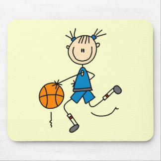Camisetas y regalos azules del baloncesto de los c tapetes de ratón