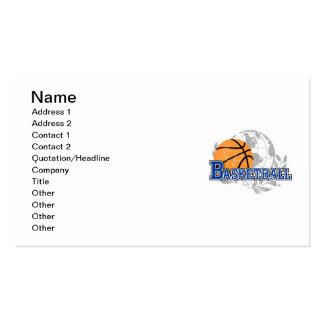 Camisetas y regalos azules del baloncesto tarjetas de visita