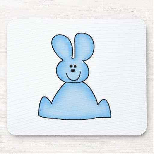 Camisetas y regalos (azules) del conejito de la me alfombrilla de raton