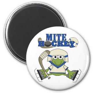 Camisetas y regalos azules del hockey del ácaro iman de nevera