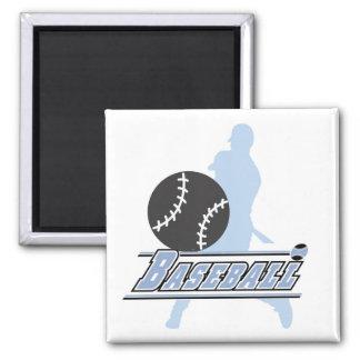Camisetas y regalos azules del jugador de béisbol  iman
