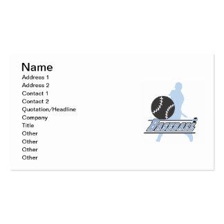 Camisetas y regalos azules del jugador de béisbol tarjetas de visita