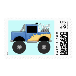 Camisetas y regalos azules del monster truck sellos