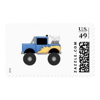 Camisetas y regalos azules del monster truck franqueo