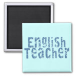 Camisetas y regalos azules del profesor de inglés imán de nevera