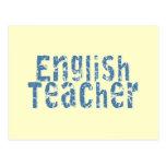 Camisetas y regalos azules del profesor de inglés tarjeta postal