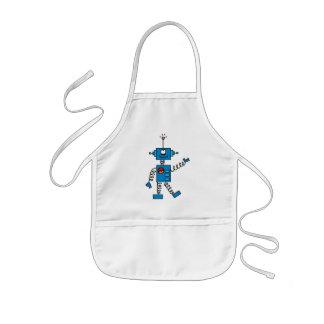 Camisetas y regalos azules del robot delantal infantil