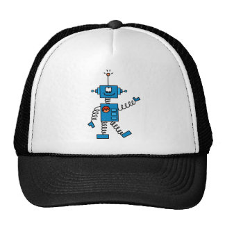 Camisetas y regalos azules del robot gorros bordados