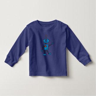 Camisetas y regalos azules del robot playera
