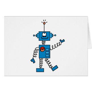 Camisetas y regalos azules del robot tarjeta de felicitación